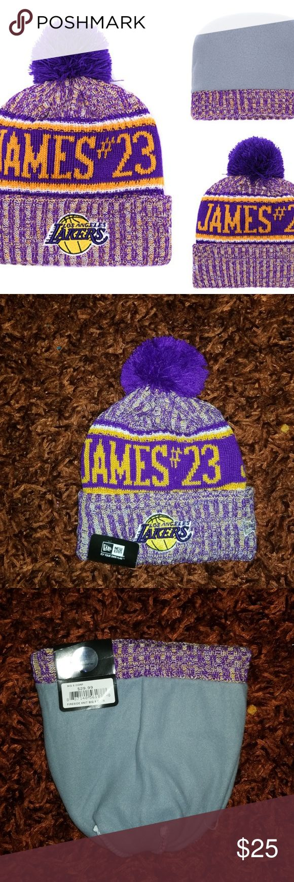 New Era Lakers James #23 Cuffed Knit Hat Brand new  Never used  Same bussiness day shipping Perfect holiday gift for your friend, boyfriend or husband…