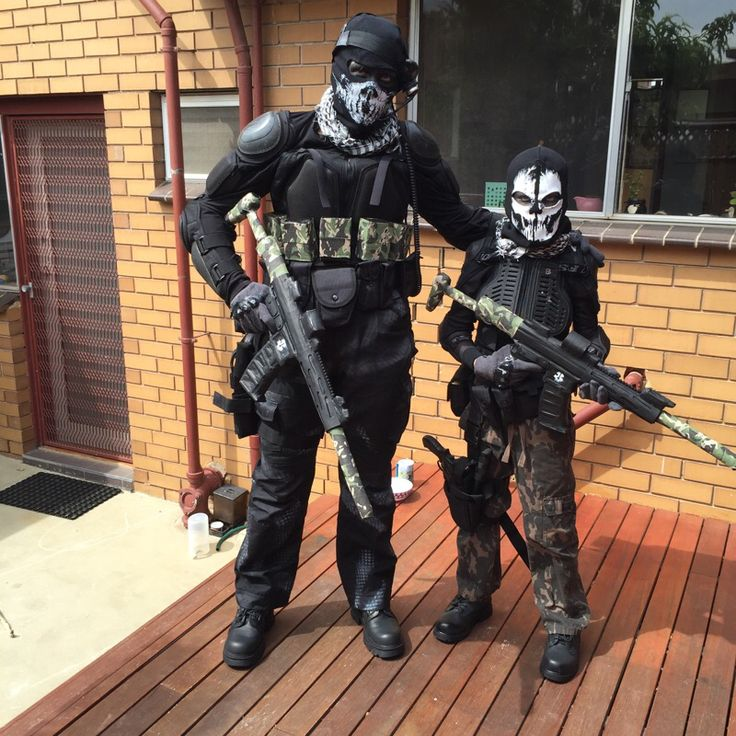 Call of Duty Ghost costumes for my son and I :)