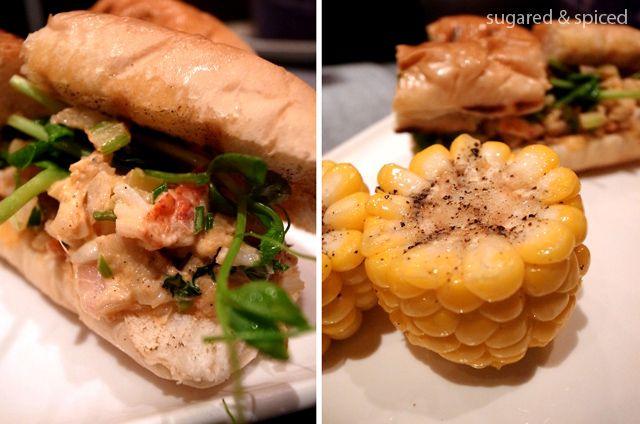From GOGA in Shanghai.  Buttery Lobster Rolls: Atlantic lobster, lemon tarragon aioli, buttery brioche - I. Die.