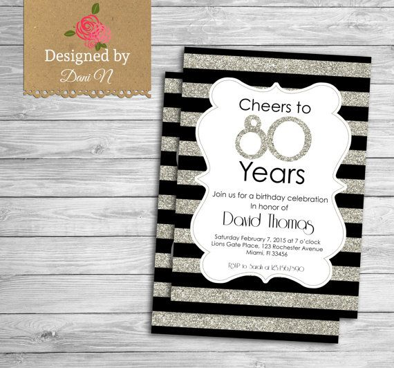 inexpensive 70th birthday party invitations