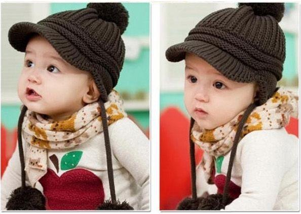 nieuwe herfst kinderen caps mode warme gebreide muts wol baby jongens kinderen winter hoeden hoed meisjes
