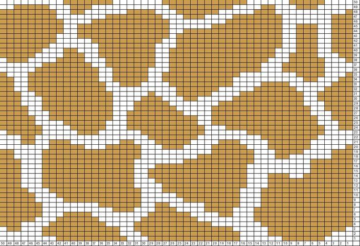 Tricksy Knitter Charts: giraffe print 2 (62567) (70067) (73070)