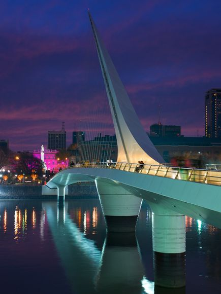 Puente de la Mujer--Bridge of the Woman-- Buenos Aires