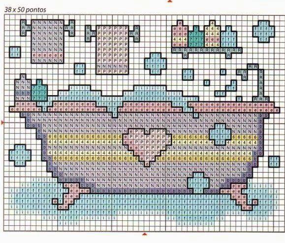 **Blog Amor Perfeito** Gráficos de ponto cruz: Banhos
