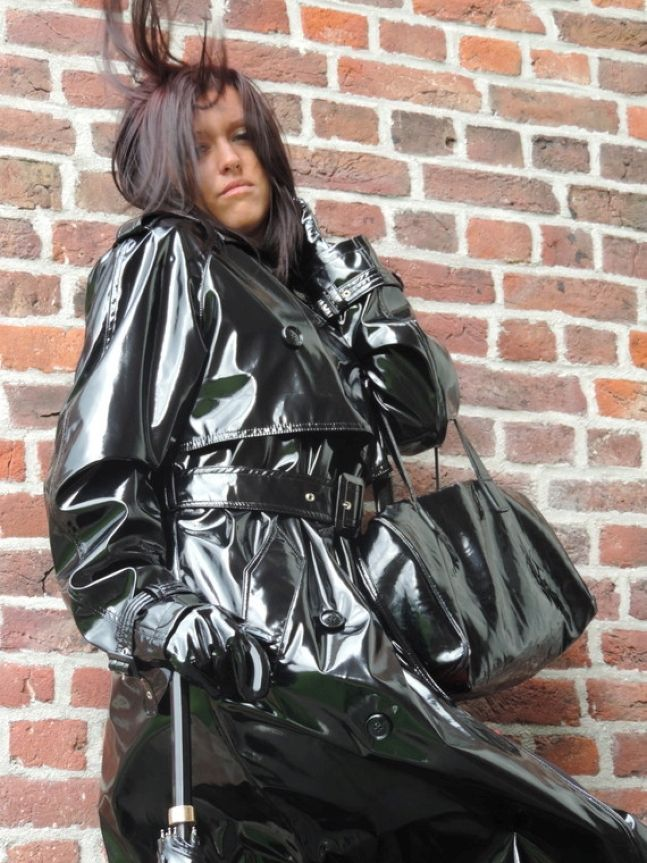 Pvc plastic vinyl rainwear fetish videos think