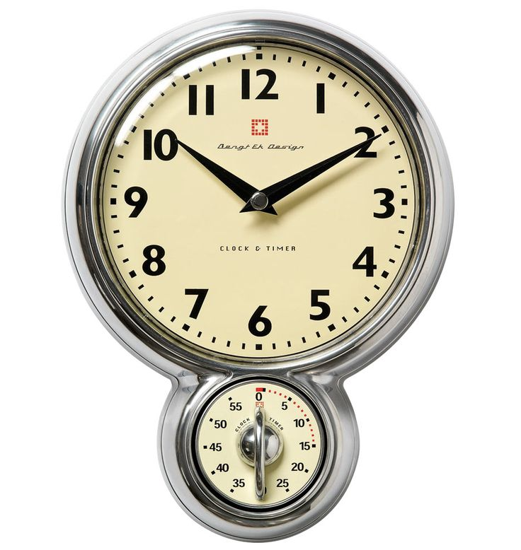 Kitchen Wall Clock with Timer   E7748