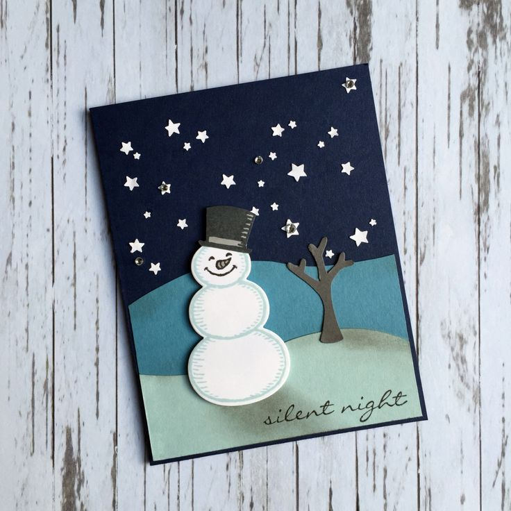 stampcandy.net, Stampin' Up!, Snow Place stamp set, Snow Friends Framelits Dies, Jingle All the Way stamp set, Tree Builder punch, Confetti Stars punch, Rhinestone Basic Jewels