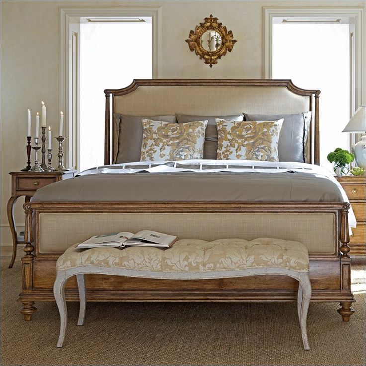 Stanley Arrondissement Queen Upholstered Bed in Sunlight Anigre : Upholstered beds, Furniture ...