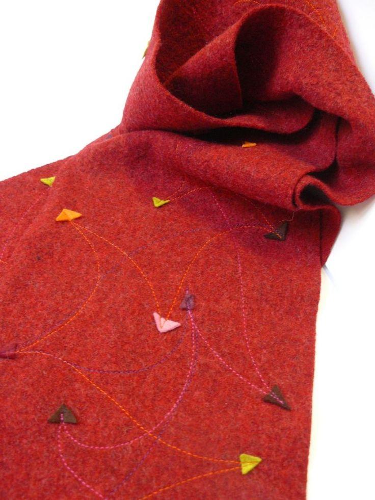 Tuto : une écharpe bien chaude, à partir de laine bouillie : simplissime!