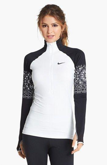 Nike 'Mosaic Pro Hyperwarm' Zip Top http://rstyle.me/n/eardyr9te