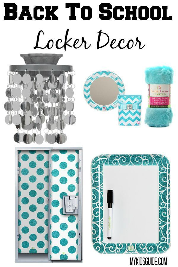 Makeover that drab steely grey tomb with these super hot back to school locker decor ideas for teens! They almost make you WANT to go back to school!