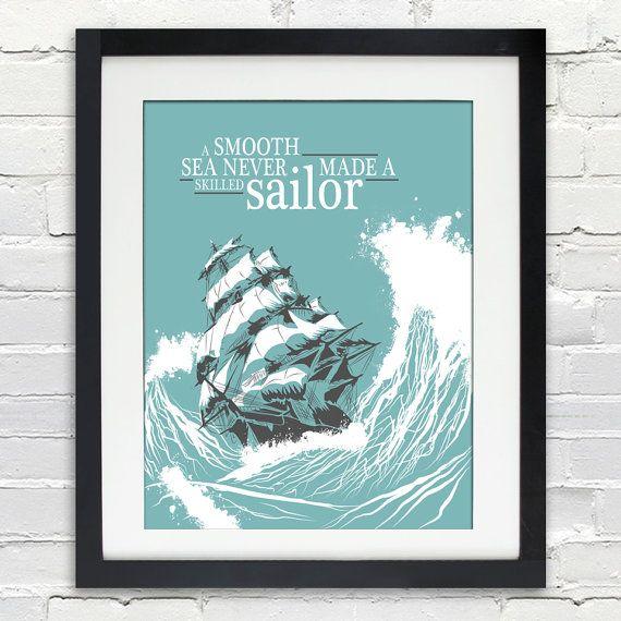 Eine glatte Meer nie gemacht ein erfahrener Seemann  von inkofme
