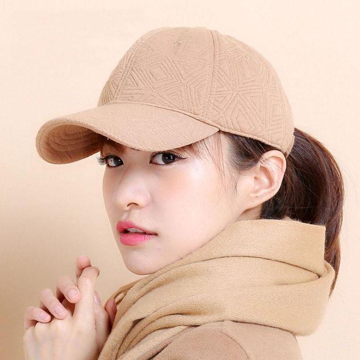 [AETRENDS] 100% Cotton Snapback Caps Baseball Cap Women 2016 Winter Sport Hats Z-3895