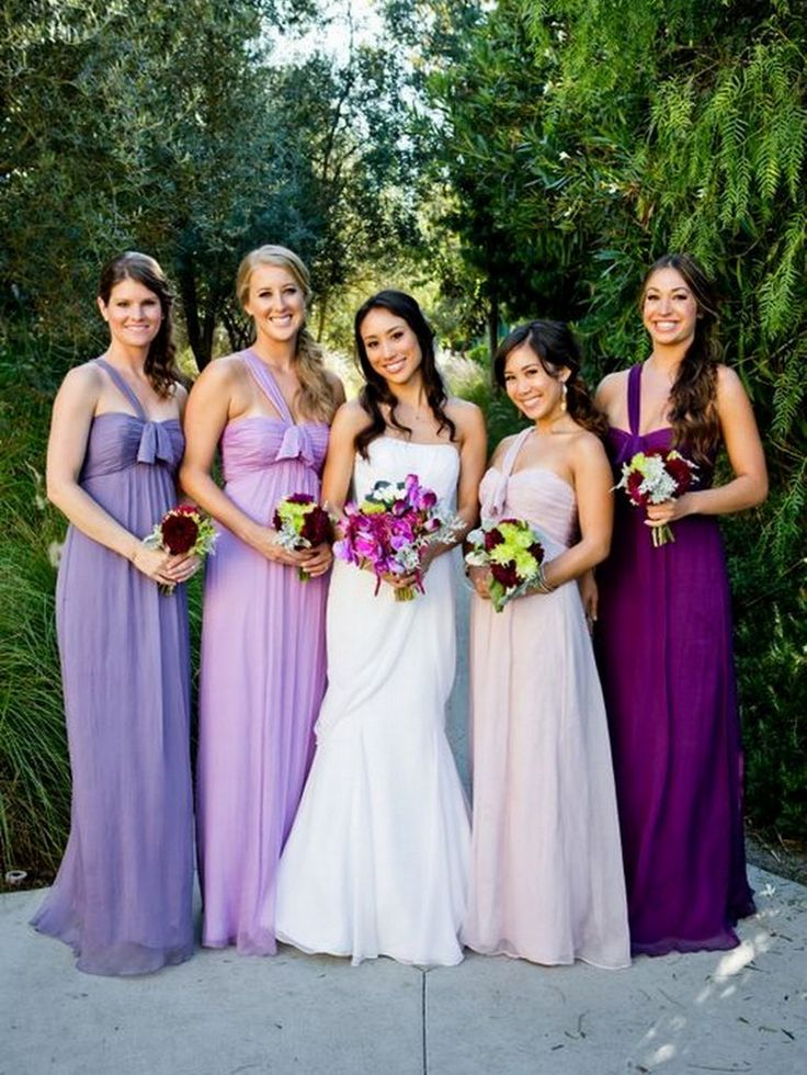 Purple Bridesmaids Dresses - KnotsVilla Photo by True Photography