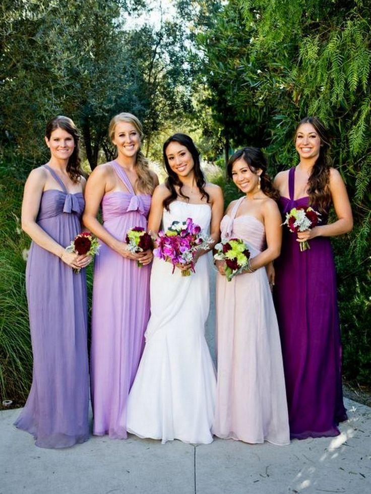 Purple Bridesmaids Dresses - KnotsVilla Photo by True Photography