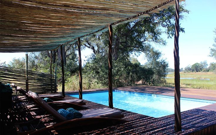 Swimming Pool overlooking the Okavango Delta