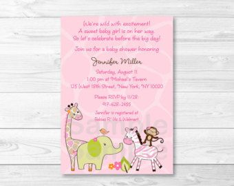These adorable Personalized Baby Shower invitations are perfect for any expecting mom! This listing is for a professionally designed and