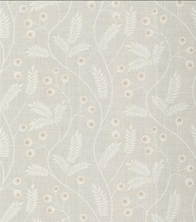 Maj wallpaper in Light Grey by Sandberg - floral/foliage vine print