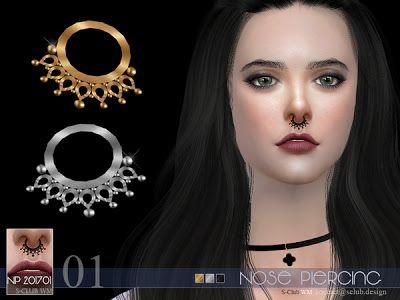 The Sims 4 Mody: Piercing do nosa od S-Club