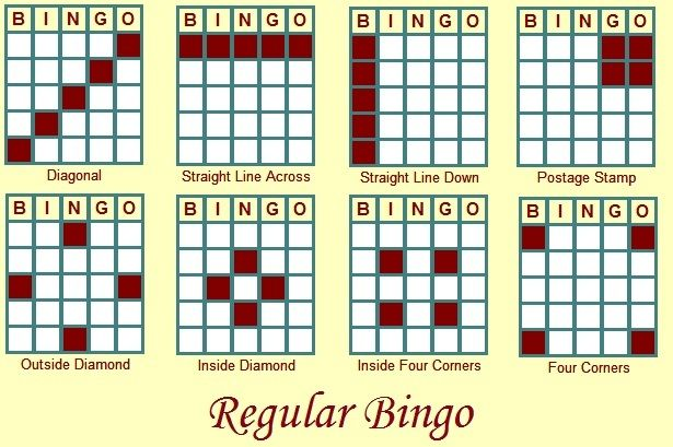 Zany image regarding bingo patterns printable