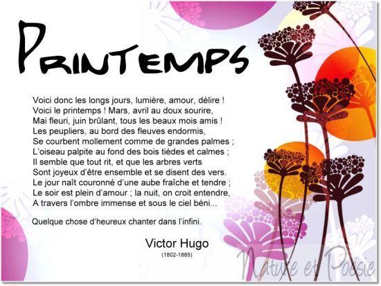 Printemps - Victor Hugo: