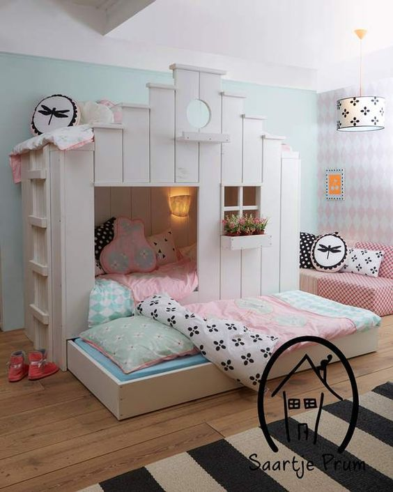 Möchte Dein Kind sein eigenes spezielles Bett? Schau Dir hier tolle Kinderbettideen an! - DIY Bastelideen