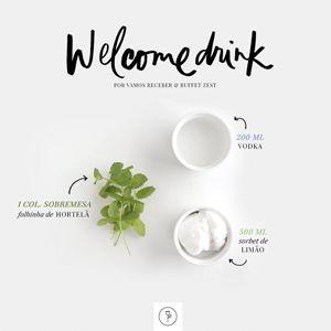 o shake de sorbet de limão com vodka e hortelã, servido em taças altas. Para tornar tudo ainda melhor, nosso drink estava personalizado ...