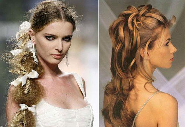 Fiocchi e legato per capelli lunghi Банты и прически из длинных волос
