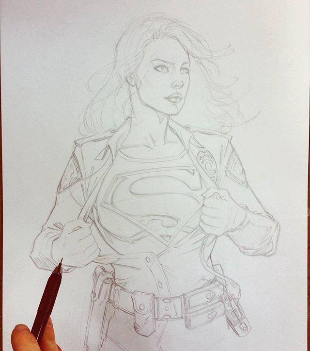 Supergirl commission by Bella Rachlin #supergirl #superman #dccomics #dc #comics #nerds #geek #comicbookartist #draw #picoftheday #fun #sketch #comicart #comicartist #art #instaart #artoftheday #sketchbook #artwork #bellarachlin #pencils