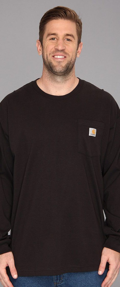 Carhartt Workwear Pocket L/S Tee (3XL/4XL) (Black) Men's T Shirt - Carhartt, Workwear Pocket L/S Tee (3XL/4XL), K126-001, Apparel Top Shirt, T Shirt, Top, Apparel, Clothes Clothing, Gift - Outfit Ideas And Street Style 2017