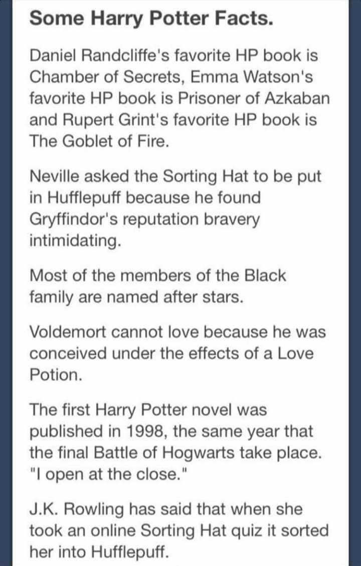 Harry Potter Book Facts : Best images about harry potter trivia on pinterest