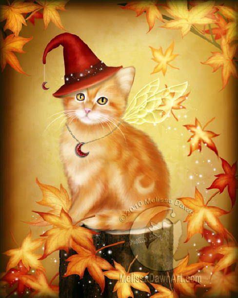 autumn kitty art