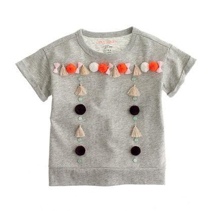 Girls' Little Mayhem™ for J.Crew tassel T-shirt : AllProducts | J.Crew