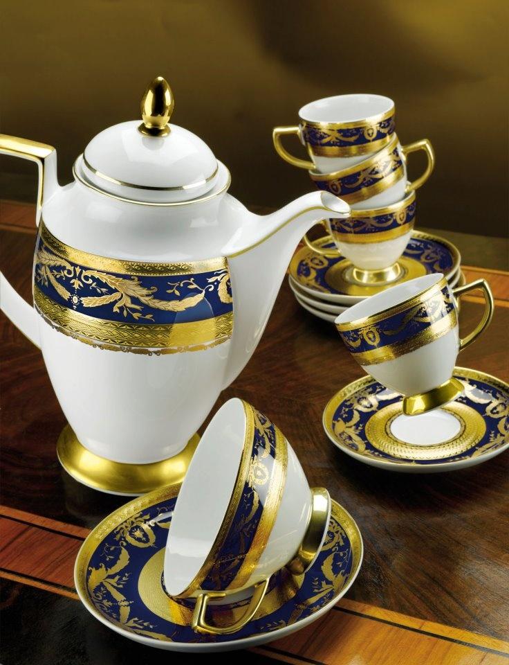 Imperial Gold Cobalt – сочетание благородного кобальтового оттенка с золотым узором – идеально для чаепития в европейском стиле.