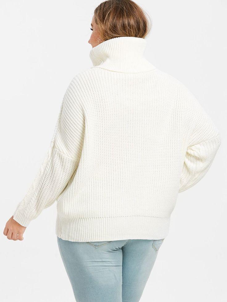 Plus Size Turtleneck Pullover Sweater 2