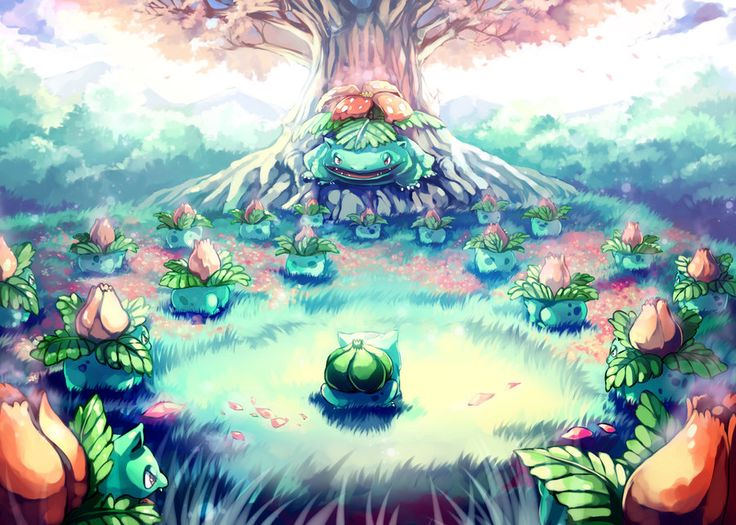 Pokemon : Bulbasaur Secret Garden by Sa-Dui.deviantart.com on @deviantART
