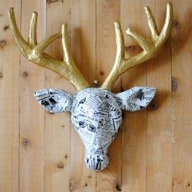 Fun tutorial on how to transform a simple cardboard deer.