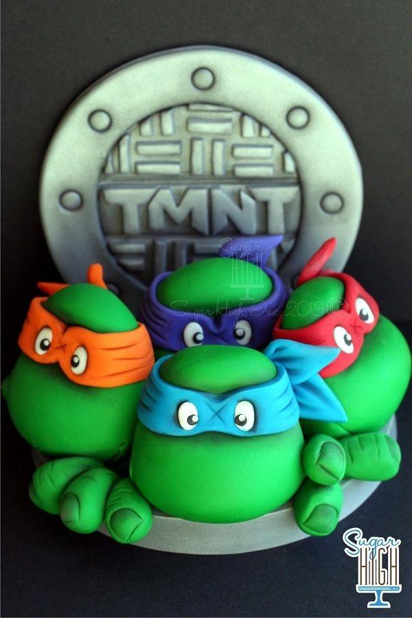 TMNT fondant cake topper