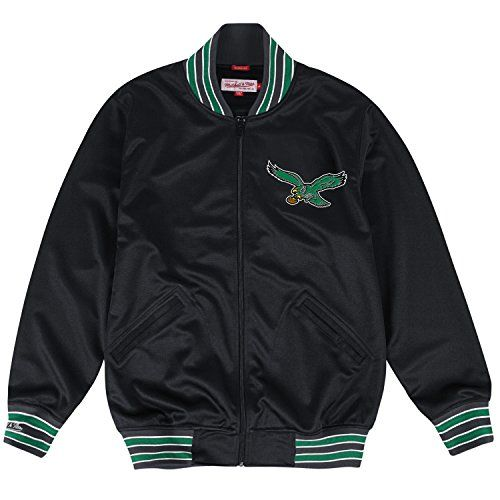"Philadelphia Eagles Mitchell & Ness NFL ""Division"" Full Zip Premium Track Jacket  https://allstarsportsfan.com/product/philadelphia-eagles-mitchell-ness-nfl-division-full-zip-premium-track-jacket/  Nylon coil zipper Embroidered graphics High quality vintage apparel"