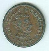 Civil War Patriotic Token, General George B. Mcclellan