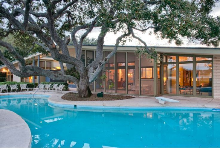 12 best images about mid century florida ranch on for Pool design tampa florida