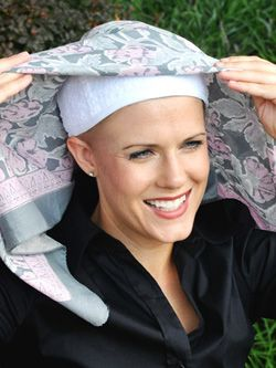 Learn how to buy a head scarf during hair loss, cancer or chemotherapy treatments.