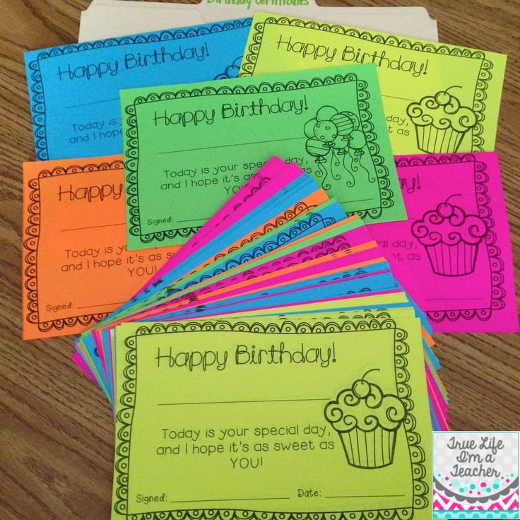 I love making enough birthday certificate copies to last the entire year! Makes celebrating birthdays so much easier!