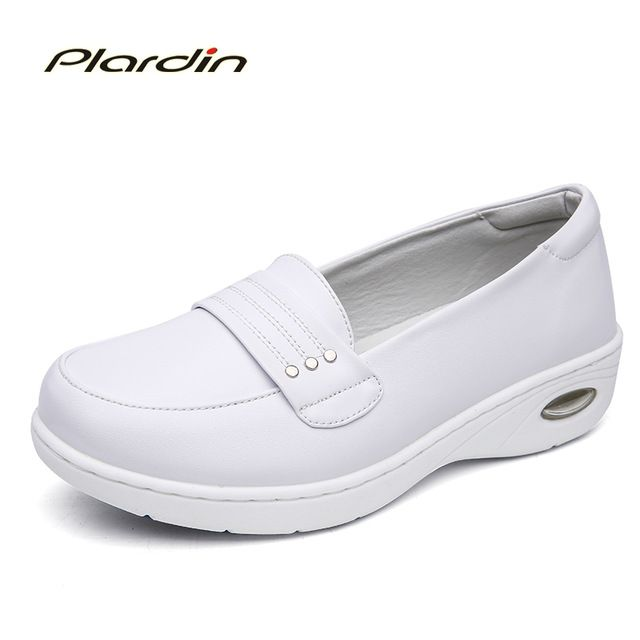 We love it and we know you also love it as well plardin 2017 Four Seasons Woman Pure white Nurse shoes women Platform soft Comfortable Air cushion casual genuine leather shoe just only $22.47 with free shipping worldwide  #womenshoes Plese click on picture to see our special price for you