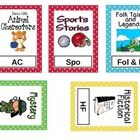 This is a customizable PowerPoint of classroom book basket labels.  The frames are polka dot, and contain images and abbreviations for each of the ...
