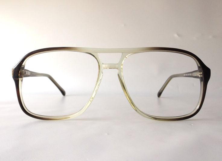 vintage 80's double bridge eyeglasses frames oversized retro eye glasses eyewear optical used plastic translucent brown fade men man guy old by RecycleBuyVintage on Etsy