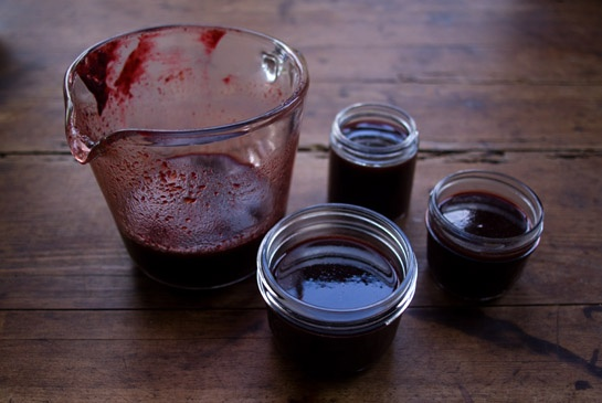 Chile Blackberry Syrup (NOTE: In spite of the jar in the image, this is NOT a canning recipe!)