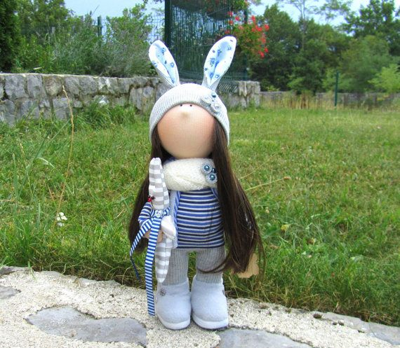 Marie Doll-Handmade Doll-Fabric Doll-Rag Doll-Textile Doll-Handmade Doll-Home…