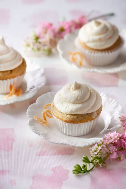 LADY GREY CUPCAKES WITH ORANGE ZEST FROSTING: Lady Grey tea infuses these citrusy cupcakes with a unique, memorable flavor. Click through for the recipe and more Easter dessert recipes.