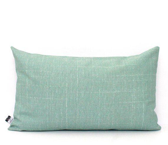 Mint Pillows Aqua Fleck Solid Flecked Seafoam Green Decorative
